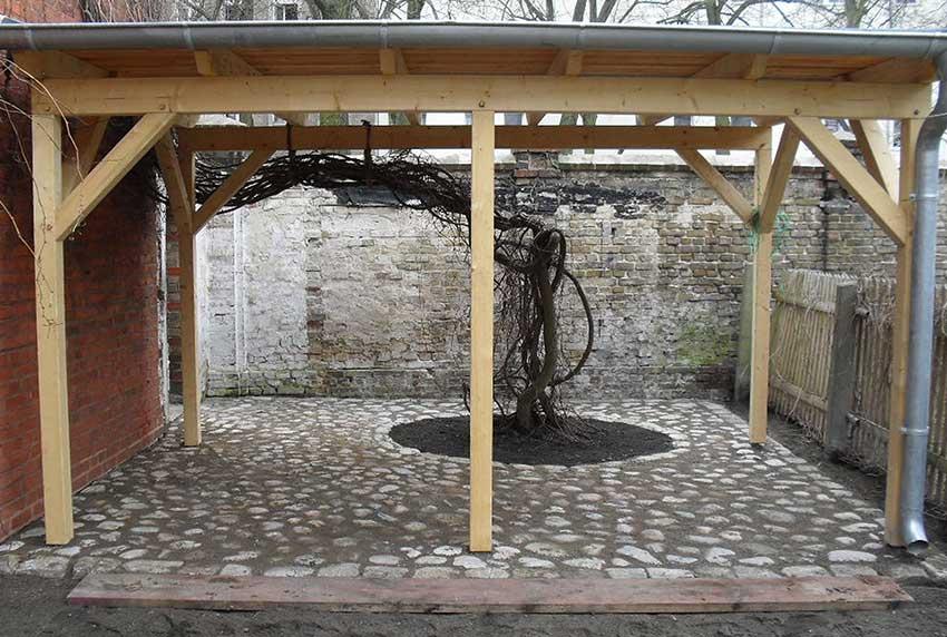 Carport-Holz-Nachher