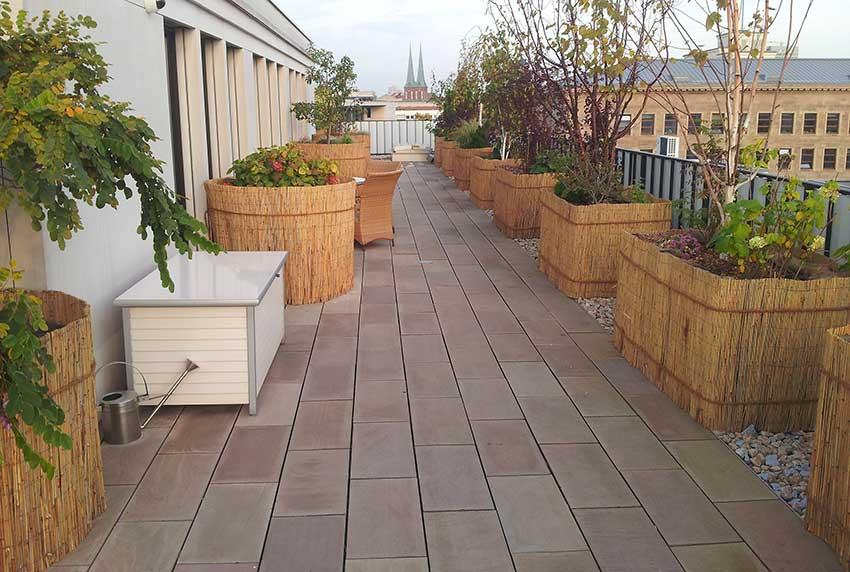 Terrasse-Einwintern