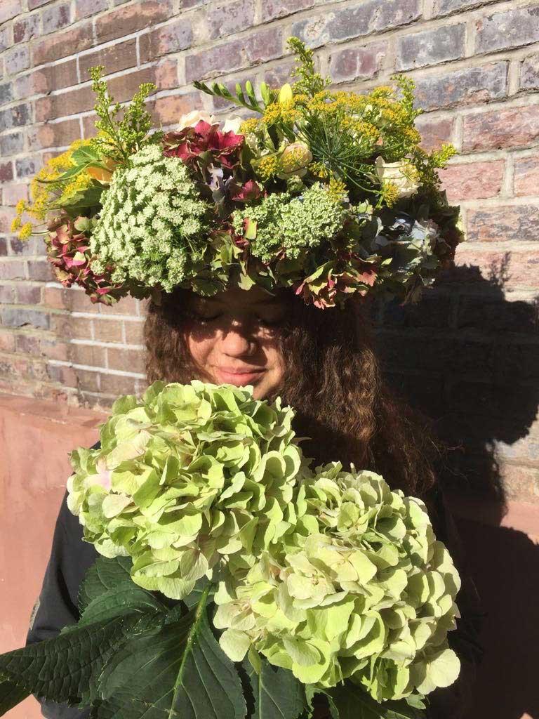 Berufsliebe-Blumengirl